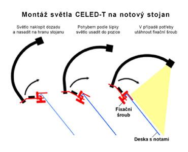 Celed-T, návod montáže